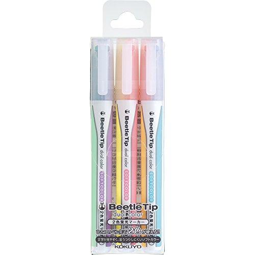 Kokuyo Beetle Tip Dual Color Highlighter, 1-Pack ()