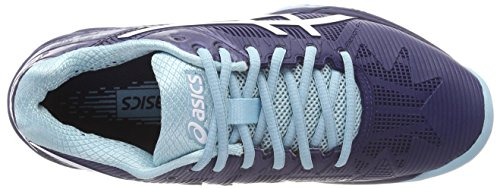 Chaussures Porcelain Blue de Speed Tennis EU Blanc 3 Blue 4901 Indigo Gel 38 White Multicolore Asics Solution Femme IHWqfZpaw