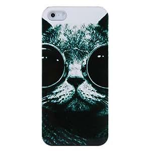 ZXM- Caso Gafas Cat de silicona para el iPhone 5/5S
