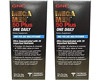 Mega Men 50 Plus One Daily - 60 Caplets (2Pack)