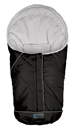 Altabebe AL2003 - 12 Winterfußsack für Kinderautositz Gruppe 0+, schwarz-hellgrau