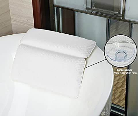 Bathtub Pillow, Halovie Bathtub Pillow with Strong Large Suction Cups Spa Bath Pillow Memory Foam (Vasca Da Bagno Da Tè)