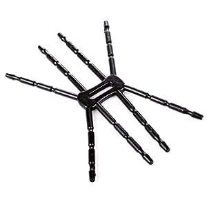 Universal Spider Gadget Car Bike Holder Grip Dock Stand for iPhone iPod Samsung Camera MP4 Flexible [PA1471 Black]
