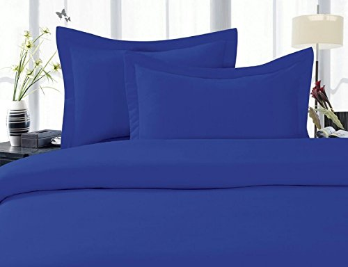 Elegant Comfort 1500 Thread Count Egyptian Quality Super Soft Wrinkle Free 4-Piece Sheet Set, King, Royal Blue