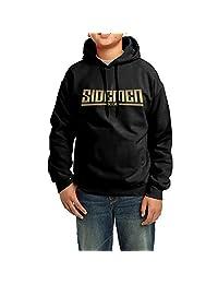Boys Girls Kids Gold Sidemen Symbol Hoodie Black Cotton Hoodie