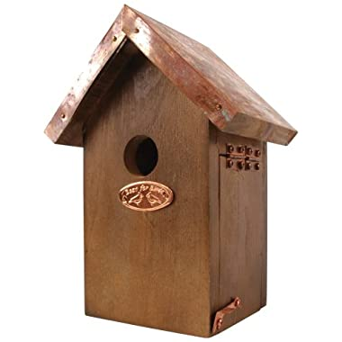 Esschert Design Wren Bird House - Antique Wash with Copper Roof