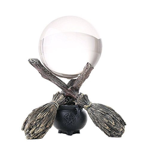 Wiccan and Witchraft Cauldron Broomstick Crystal Ball -