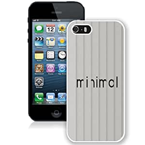 NEW Fashion Custom Designed Cover Case For iPhone 5S Minimal White Phone Case