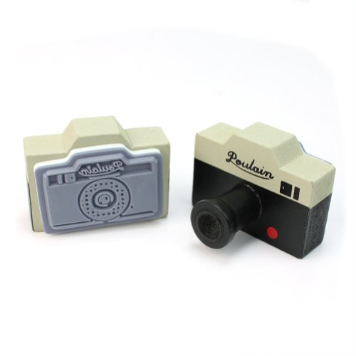 UPC 799491357884, New 2Pcs Vintage Style Korea Gray Camera Wooden Rubber Stamp Craft Novelty Gift