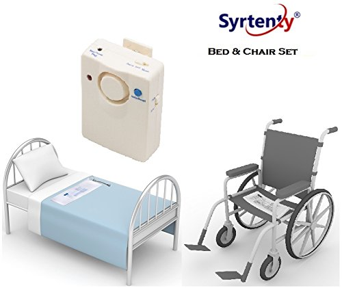 Syrtenty - Bed and Chair Sensor Pad Alarm Set Fall Prevention Bed Pad and Chair Alarm for Elderly - Caregiver - Fall Risk Management - Weight Sensor Pad Alarm or Music Alert