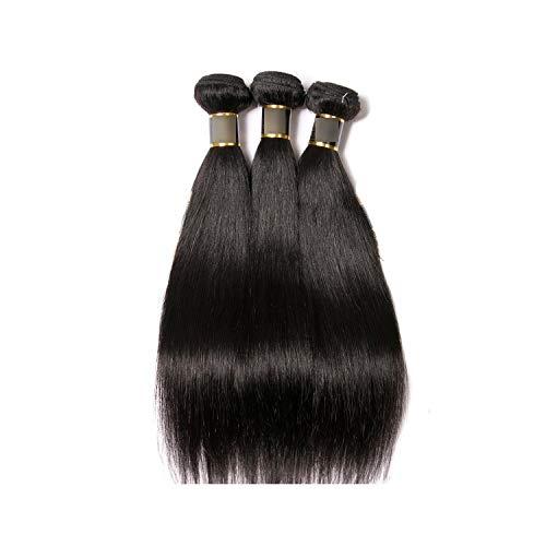 Hair Brazilian Straight Hair 3 Bundles 100% Human Hair Weave Bundles 8-30inch Cheap Brazilian Hair Straight 3 Piece,8 10 12,Natural Color ()