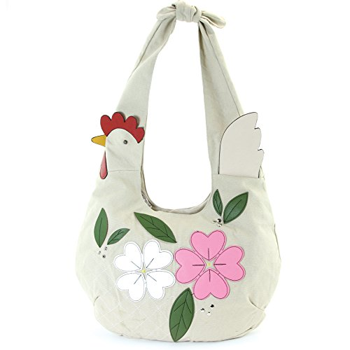 Floral Chicken Hobo in Canvas Material (Chicken Bag)