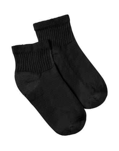 2 Pack Ankle Socks - Hanes Women's Ankle Socks 6-pack,Black,2-Pk (12 Pairs) 9-11