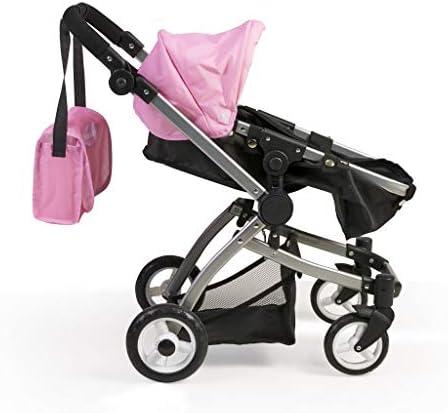Nenuco - Sillita van metaal plagable baby-kinderwagen 3-in-1 met tas. multicolor