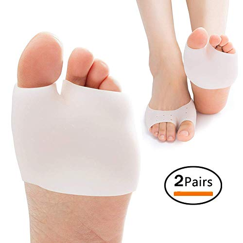 Y8HM 2 Pairs Soft Metatarsal Pads, Silicone Gel Feet Support Pad for Plantar Fasciitis & Metatarsalgia Instant Pain Relief