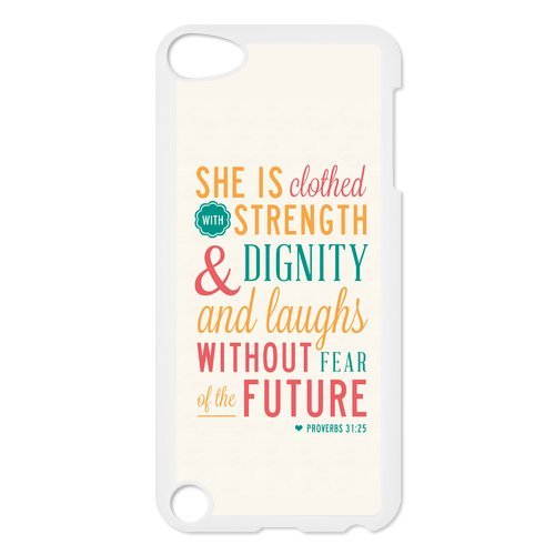 [diycover Ipod Touch 5th Case - Christian Theme - Bible Verse Proverbs 31:25 - Durable and lightweight Cover] (Richard 3 Costume)