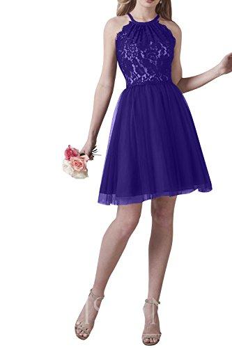 Attraktive La Cocktailkleider Festlichkleider Brau Mini Kleider Violett Spitze Partykleider Damenmode Abendkleider mia Jugendweihe ABTEBqraU