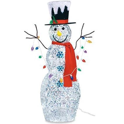 Outdoor Snowman Lights Amazon nomainliten import snowman with lights 48 inch nomainliten import snowman with lights 48 inch workwithnaturefo