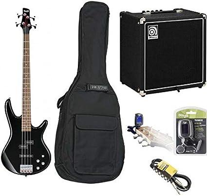 Pack Completo Guitarra Baja Ibanez gsr200 negra con amplificador Ampeg (+ funda + afinador + Cable): Amazon.es: Instrumentos musicales