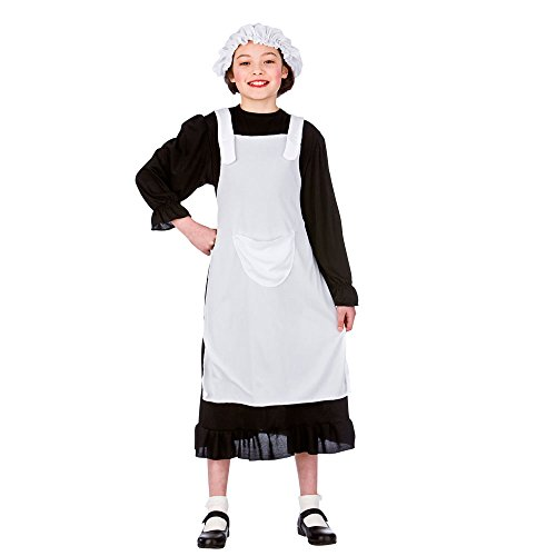 Girls Victorian Girl Costume for 18th Century Dickensian Edwardian Cosplay Age 8-10 ()