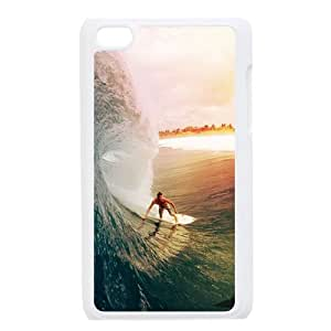 Ipod Touch 4 4th Generation Sea Surfing Design Case Cover