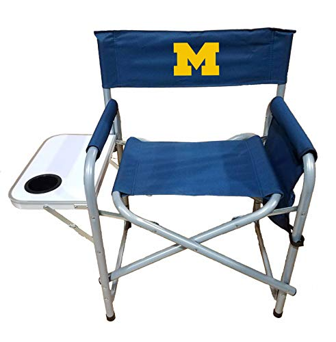 Rivalry NCAA Michigan Wolverines Directors Chair, Navy, One Size
