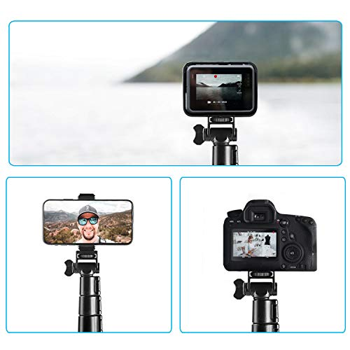 """Selfie Stick Tripod, Ruittos 54"""" Extendable Phone Tripod Ring Light Stand Aluminum Alloy Portable Heavy Duty, with Bluetooth Wireless Remote Compatible with iPhone 12 11 X Androin Go Pro 360 Camera"""
