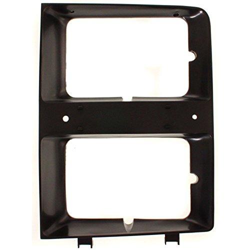 Blazer Door Headlamp (Evan-Fischer EVA18972015491 Headlight Door for Chevrolet Full Size Pickup Suburban 83-84 RH W/Dual Headlamps Right Side)