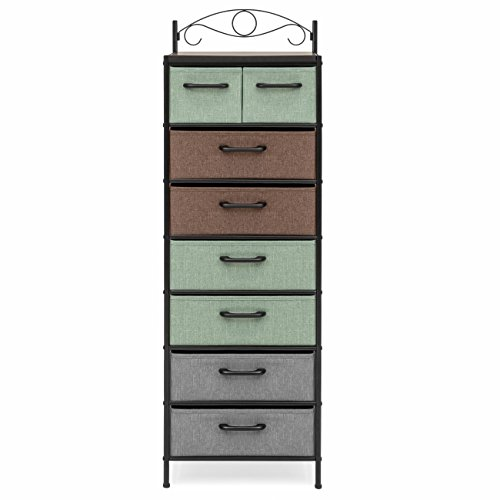 Best Choice Products 8-Drawer Metal Tower Storage Cabinet (Multicolor) by Best Choice Products (Image #2)