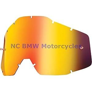 100% Racecraft Adult Replacement Lens MotoX Motorcycle Eyewear Accessories - Red Mirror/Smoke Anti-Fog - One Size