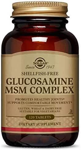 Solgar Glucosamine MSM Complex Tablets, 120 Count