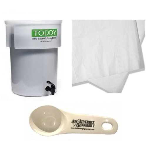 Toddy Commercial Model Brew System, Set of 50 filters and Coffee Scoop by Toddy & The Beverage Gourmet