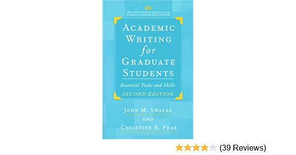Amazon com: Academic Writing for Graduate Students, Second