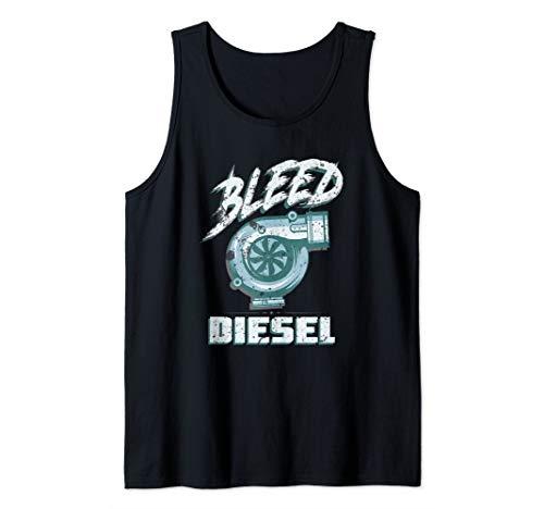 (Funny Diesel Mens Diesel Power Mechanic Turbo Life Tank Top)