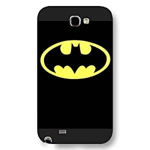 UniqueBox - Customized Personalized Black Frosted Samsung Galaxy Note 2 Case, The Joker, Batman Logo, Batman Samsung Note 2 case, Only fit Samsung Galaxy Note 2