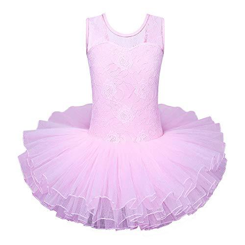 Ballerina Costume For Halloween (BAOHULU Leotard for Girls Ballet DanceTutu Skirted Dress Ballerina Cosplay Costumes)