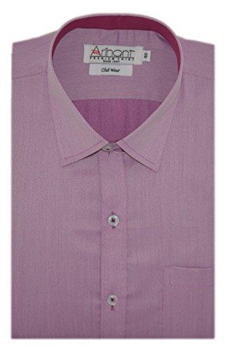 Arihant Men's Plain Poly Cotton Full Sleeves Regular Fit Party Wear Shirt