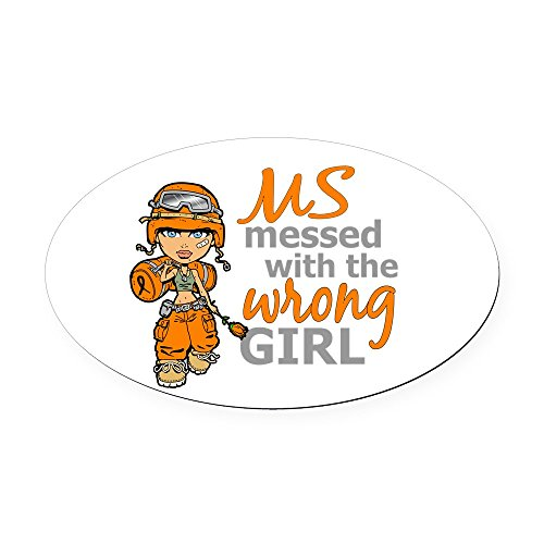 CafePress - Combat Girl MS Oval Car Magnet - Oval Car Magnet, Euro Oval Magnetic Bumper Sticker