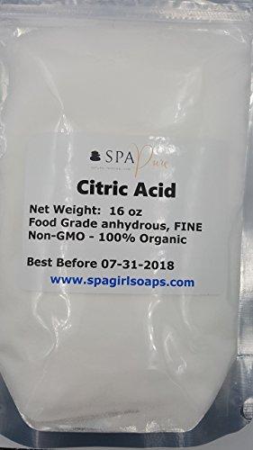 PURE CITRIC ACID, Food Grade, Non-GMO, Organic, best for mak