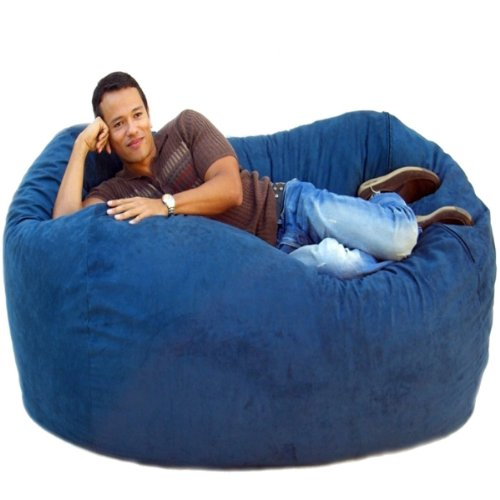 Cozy Sack 6-Feet Bean Bag Chair, Large, Navy