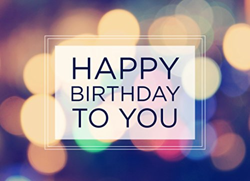 Birthday Greeting Cards - B1603. Business Greeting Card Featuring a Happy Birthday Message on a Multi-Colored Light Background. Box Set Has 25 Greeting Cards and 26 Bright White Envelopes.