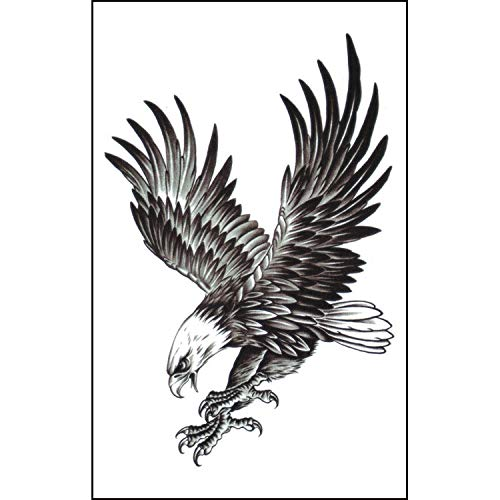 Used, 2 Pcs Mens Temporary Tattoos Eagle Realistic Waterproof for sale  Delivered anywhere in USA