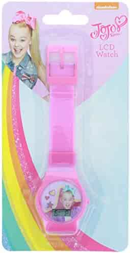 KidPlay Products Nickelodeon - JoJo Siwa - Digital LCD Pink Wrist Watch and Timer