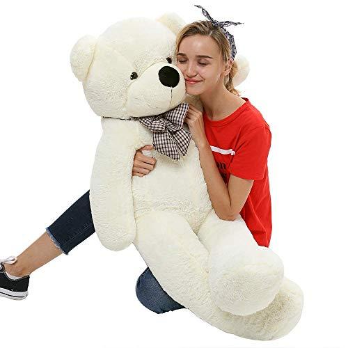 Toys Studio Giant Teddy Bear Plush Stuffed Animals for Girlfriend or Kids 47 inch(White)