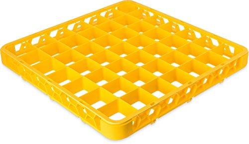 Carlisle RE49C04 OptiClean 49 Compartment Glass Rack Extender, 2.38'' Compartments, Yellow (Pack of 6) by Carlisle