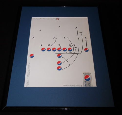 2009 Diet Pepsi / NFL Framed 11x14 ORIGINAL Vintage Advertisement