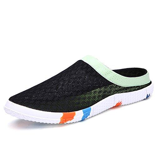 Aire en las zapatillas de verano/Zapatillas casuales cómodos Negro