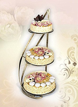 Tortenständer tortenständer aus metal für 3 kuchen drei etagen tortenständer