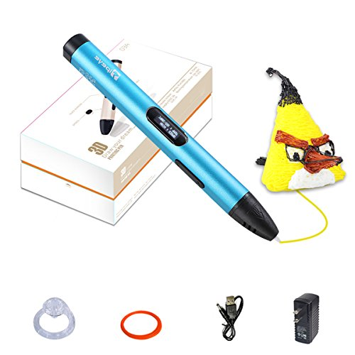 3D Pen, Professional 3D Printing Pen with OLED Display for Kids,Doodling Art Craft Making,Adults,Girls,Artists,Doodling,Teens, Printing 1.75mm PLA/ABS Filament Refills by TIPEYE