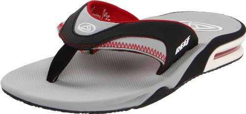 Logo Fanning Reef Men's Black Grey Sandal Speed Red qRWtWUg5p